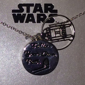 Disney Jewelry - DISNEY STAR WARS R2-D2 CRYSTAL DISC NECKLACE**NEW!